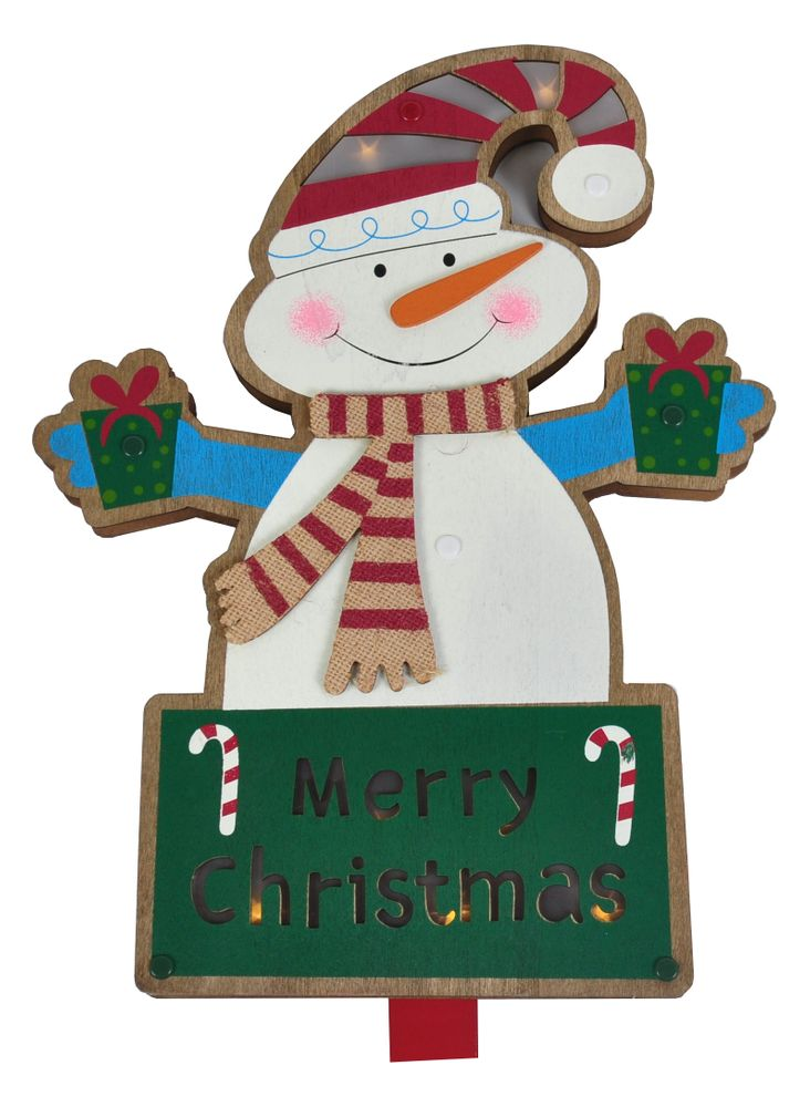 LED Dekostecker 91cm Weihnachtsmann Schneemann Pinguin Blumenstecker Dekofigur – Bild 3