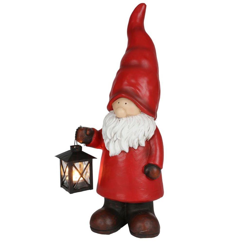 Weihnachtswichtel 50cm mit Teelicht-Laterne Weihnachtsfigur Gartendeko Dekofigur – Bild 1