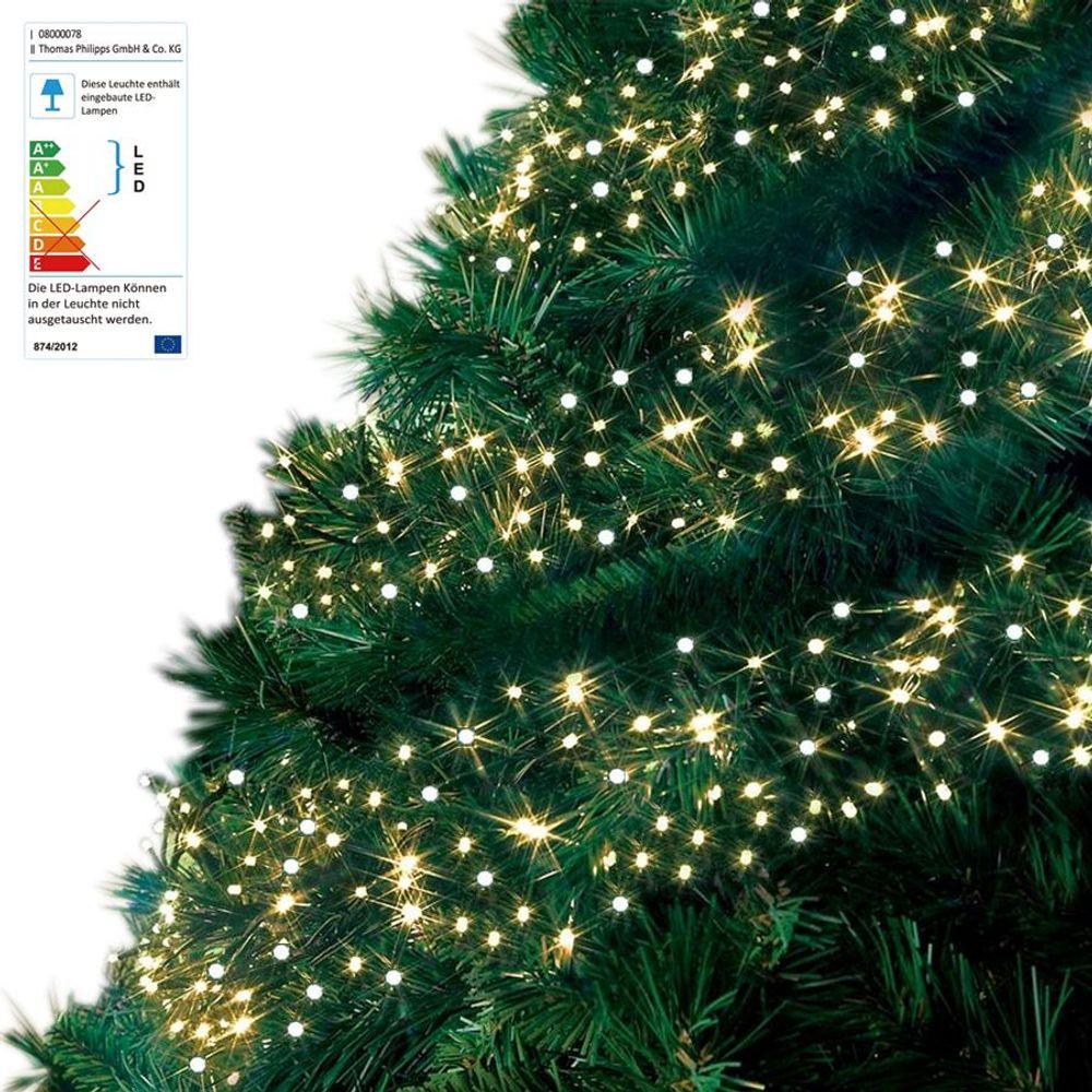 LED Cluster-Lichterkette 10,5m Büschellichterkette Weihnachtsbeleuchtung Balkon  – Bild 1