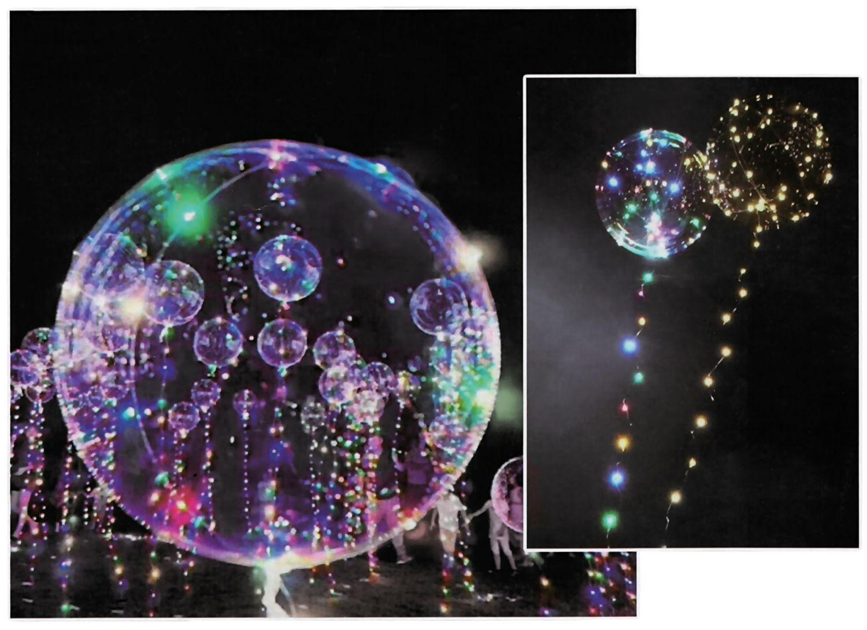 12x Led Heliumballon Luftballon Lichterkette Bunt Partydeko Hochzeit