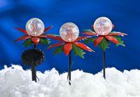 3er-Set LED Weihnachtsterne mit Farbwechsler Solarleuchte Weihnachtsbeleuchtung  001