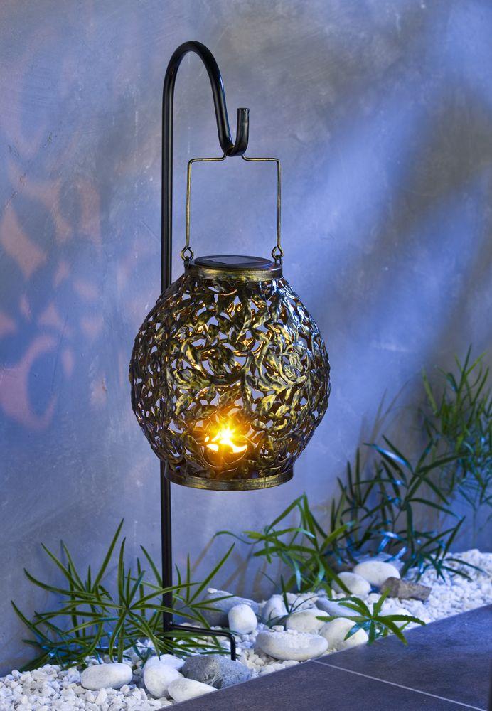 LED Solar-Gartenlaterne 100cm Gartenleuchte Kerzenhalter Gartendeko Gartenlampe  – Bild 1