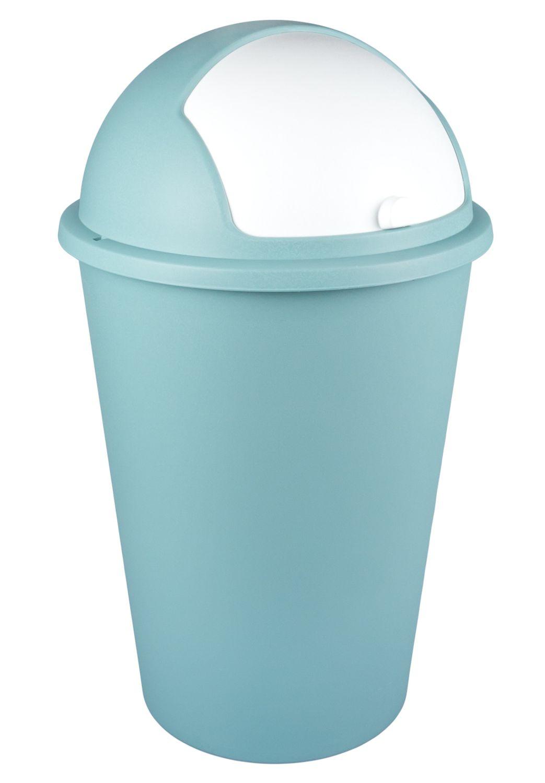 Mülleimer 50L mit Schiebedeckel Abfalleimer Müllbehälter Papierkorb ...