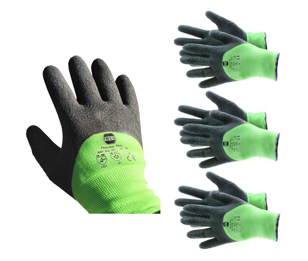 RECA Thermo Plus Arbeitshandschuhe 3x Gr.11 Winterhandschuhe Schutzhandschuhe – Bild 1