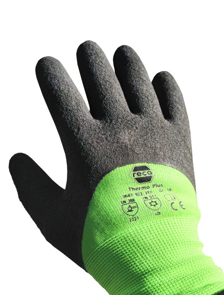 RECA Thermo Plus Arbeitshandschuhe 3x Gr.9 Winterhandschuhe Schutzhandschuhe – Bild 4