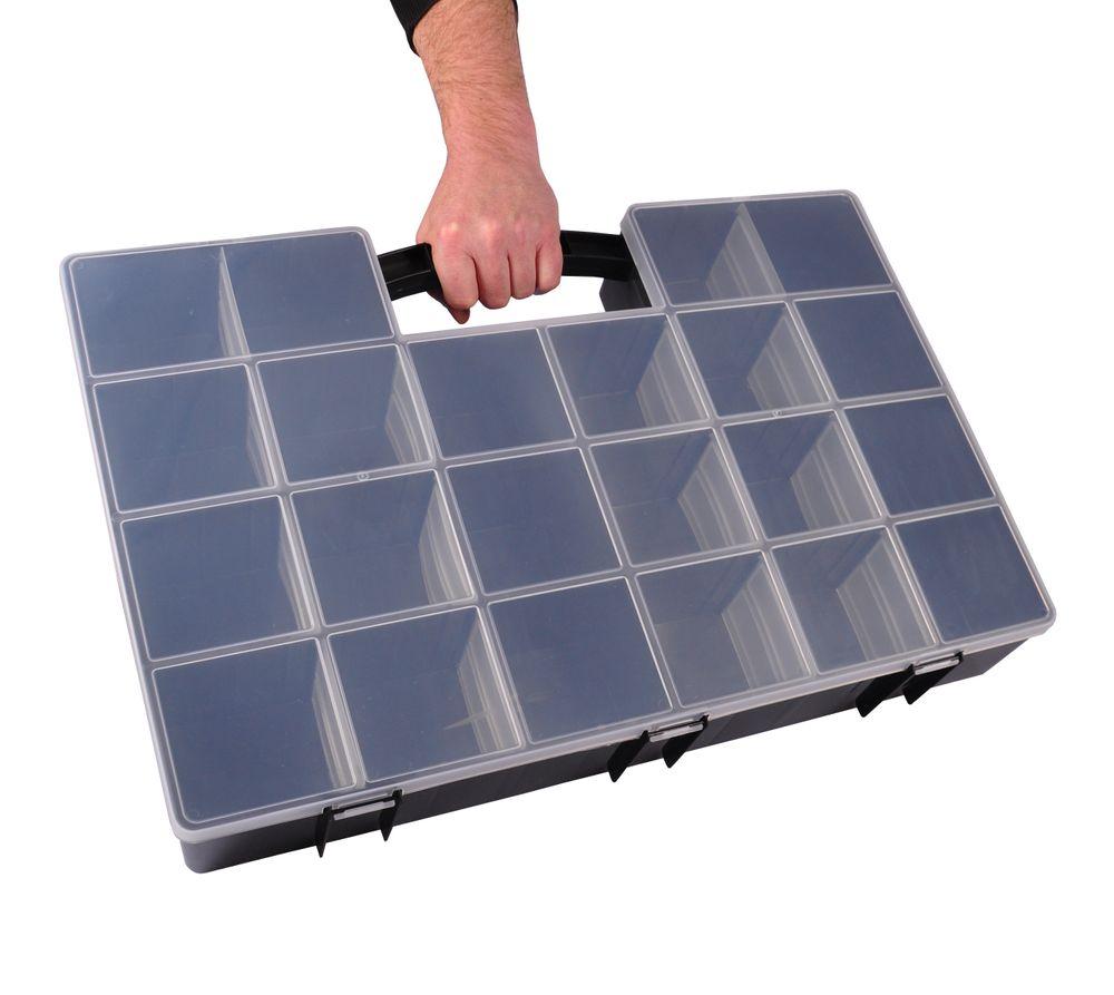 XXL Organizer 59x39,5x10cm Sortimentskasten Schraubenbox Bastelbox Aufbewahrung – Bild 1