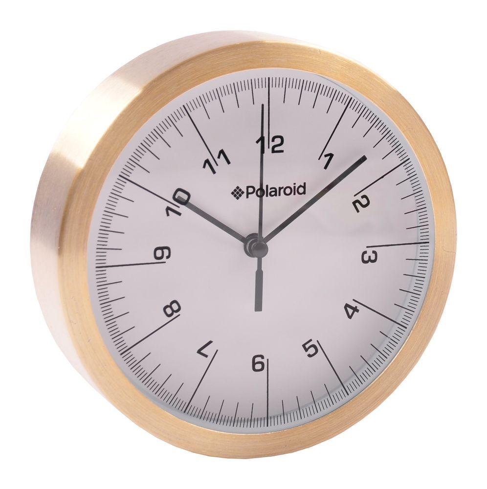 Polaroid Alu-Wanduhr 15cm Quartz-Uhrwerk Küchenuhr Wohnzimmeruhr Baduhr Bürouhr  – Bild 3