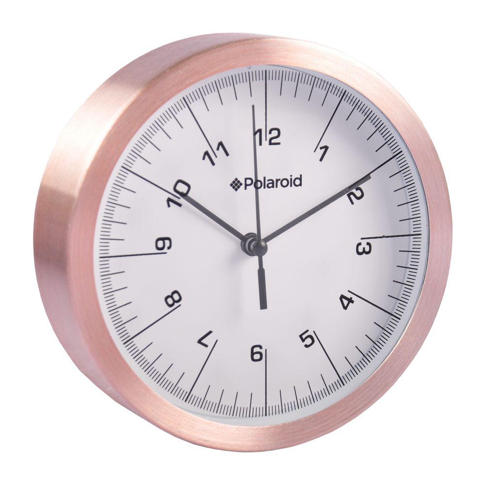 Polaroid Alu-Wanduhr 15cm Quartz-Uhrwerk Küchenuhr Wohnzimmeruhr Baduhr Bürouhr  – Bild 5