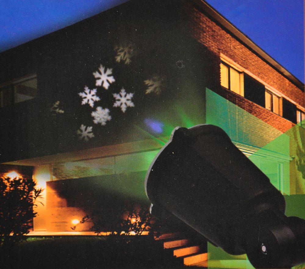LED Motiv-Strahler Sterne Schneeflocken Projektor Hausbeleuchtung Wandbild Deko – Bild 3