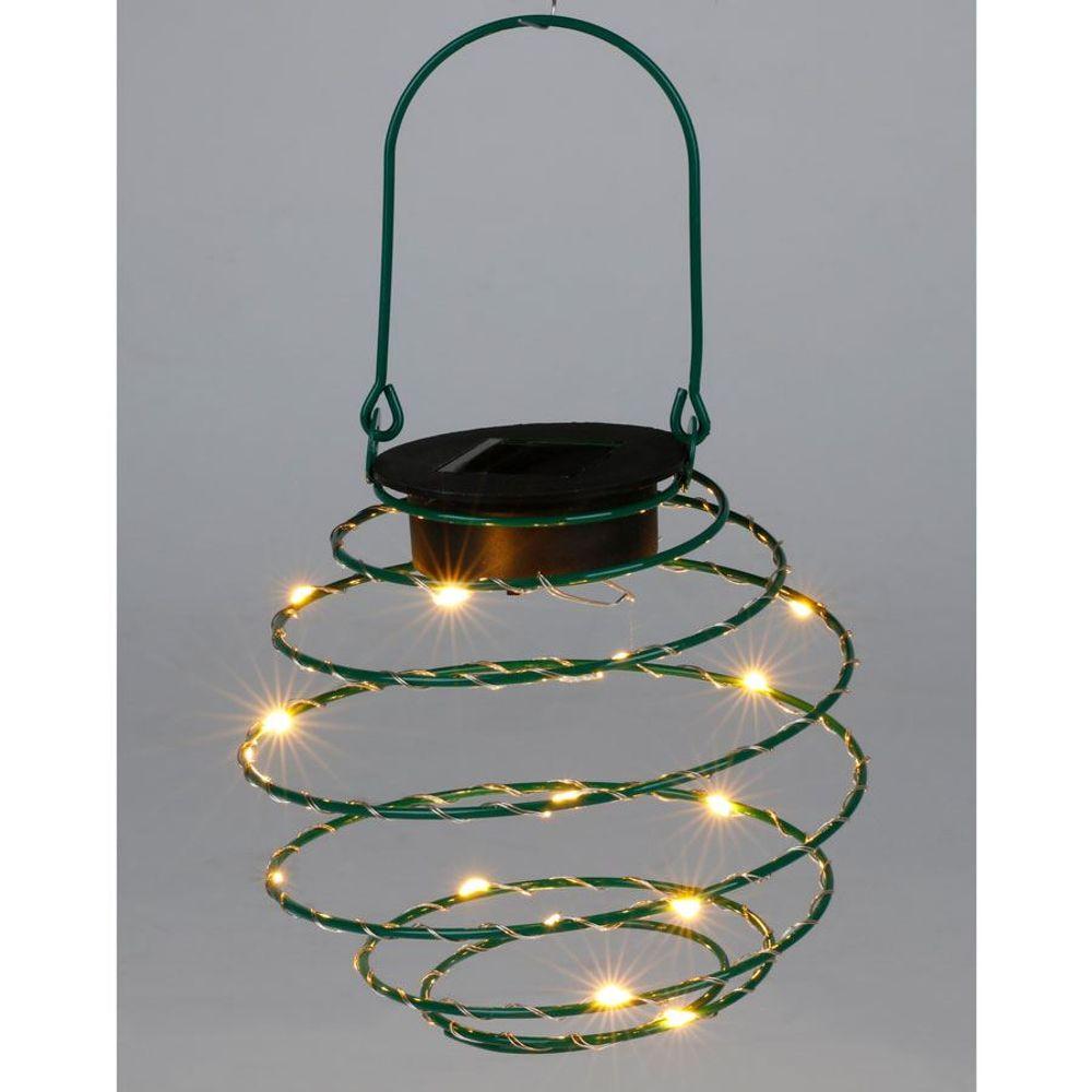 LED Solar-Spirallaterne 12cm Lampion Spirale Solarlampe Hängelaterne Gartendeko – Bild 5