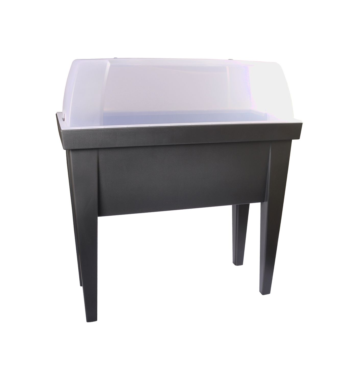 hochbeet mit deckel fr hbeet gew chshaus treibhaus. Black Bedroom Furniture Sets. Home Design Ideas