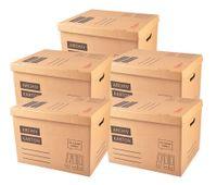 5er-Set Archivkarton Aktenordner Umzugskarton Aktenkarton Aufbewahrung Transport 001