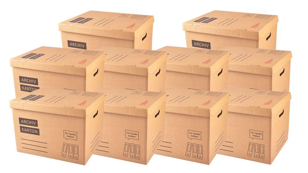 10x Archivkarton Aktenordner Umzugskarton Aktenkarton Aufbewahrung Transport – Bild 1