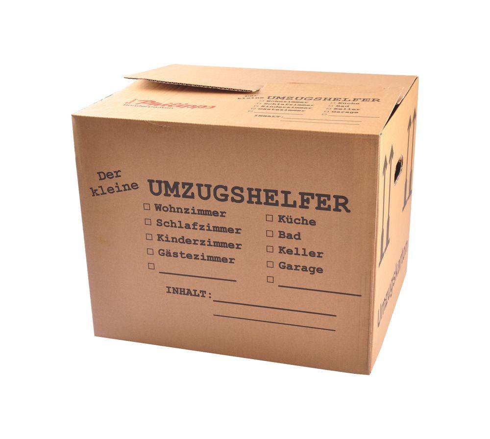 Umzugskarton bedruckt 41x35x34 Umzugskiste Bücherkiste Archivkarton Transportbox – Bild 1
