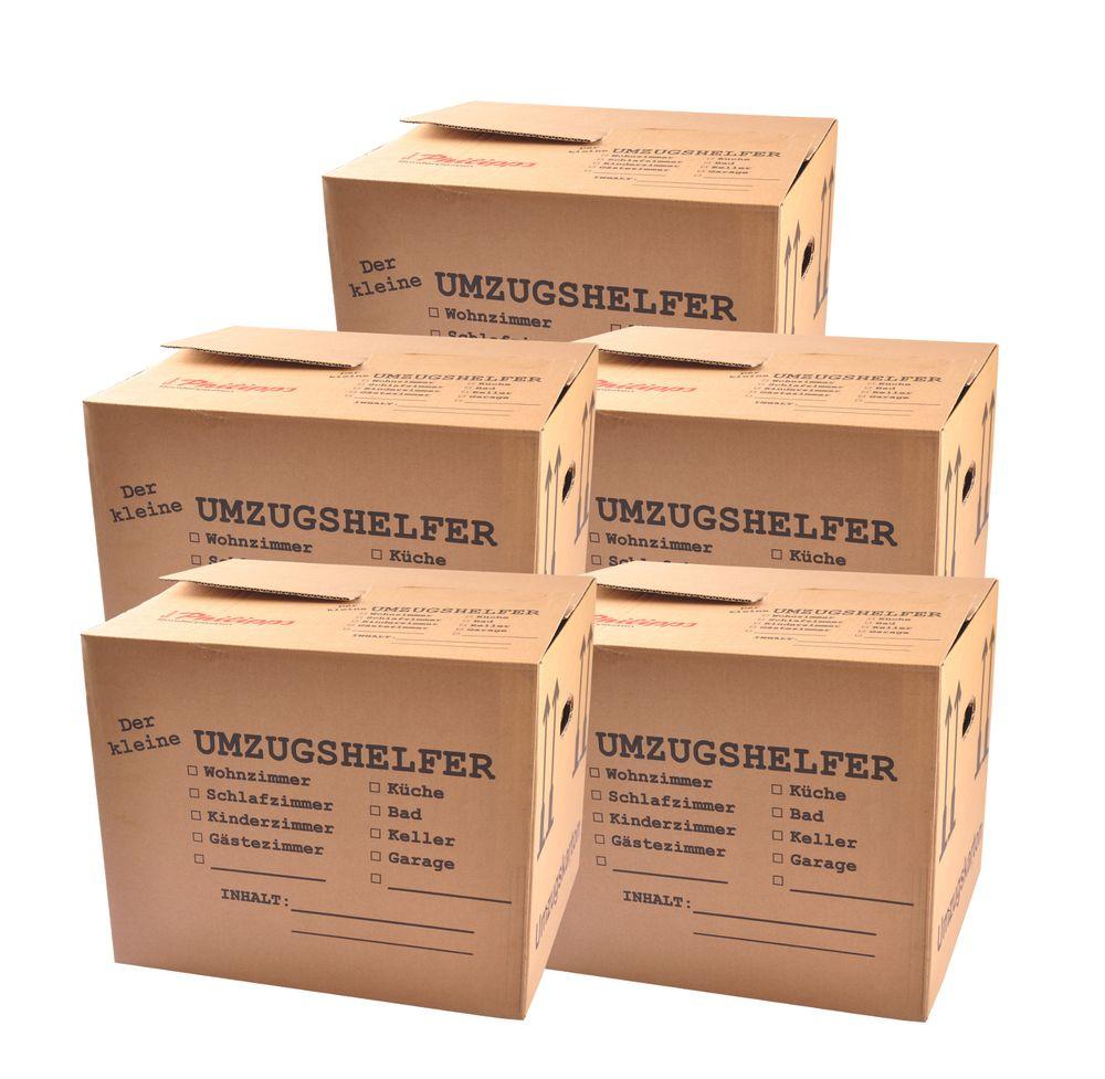 5er-Set Umzugskartons 41x35x34 Umzugskiste Bücherkiste Archivkarton Transportbox – Bild 1