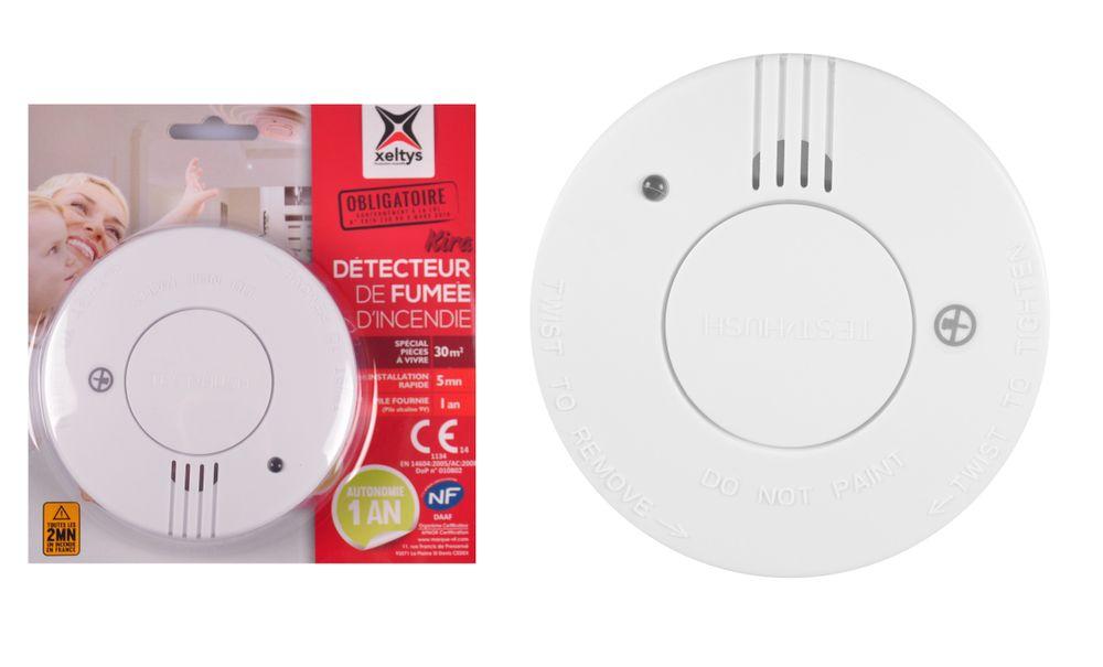 Xeltys Rauchmelder mit Jahres Batterie 85 dB Feuermelder Rauchwarnmelder Alarm – Bild 1