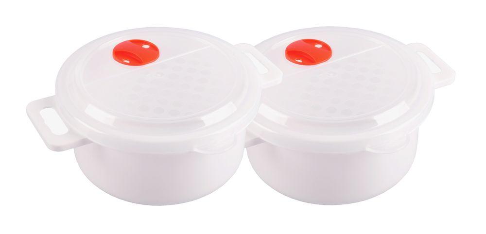 2x Mikrowellen Kasserolle 1,0L Mikrowellengeschirr Gefrierdose Frischhaltedose  – Bild 1