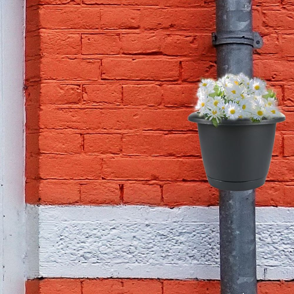 4er-Set Regenrohr Pflanztopf Blumentopf Pflanzengefäß Fallrohr Dachrinne Garten – Bild 4