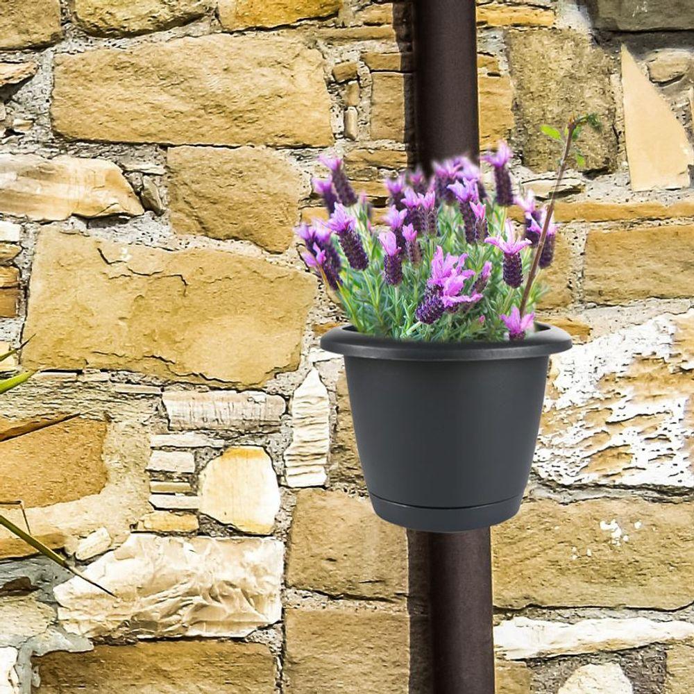 4er-Set Regenrohr Pflanztopf Blumentopf Pflanzengefäß Fallrohr Dachrinne Garten – Bild 3