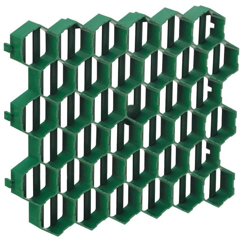 10x Rasengitterplatten 1m² Gehwegplatten Rasenwaben Rasenmatten Gitterplatten – Bild 2