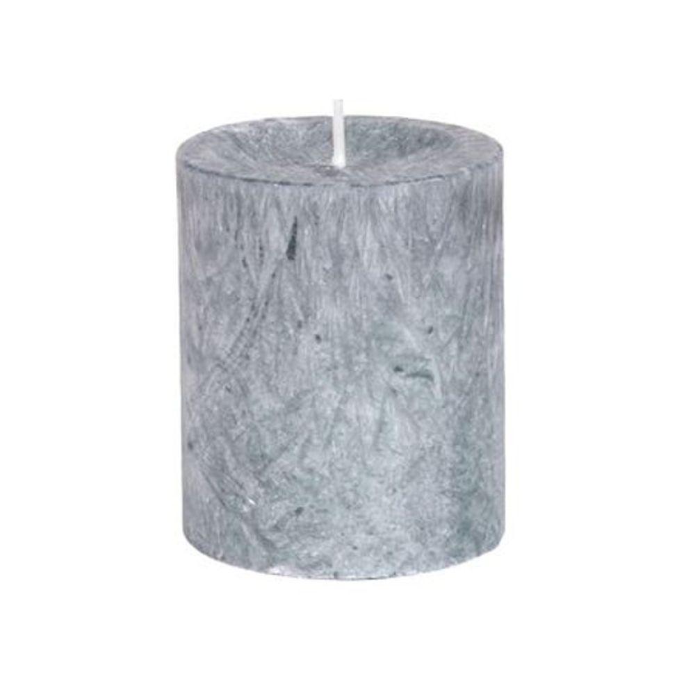 Diamond Candles Stumpenkerze dunkelgrau 8x7cm Wachskerze Tischdeko Stumpe Kerze