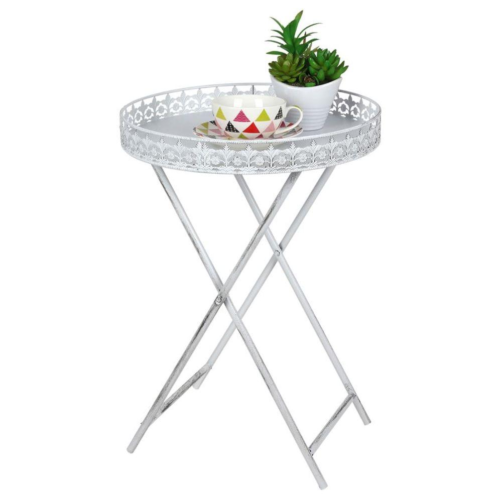 Tablett-Tisch 40cm Klapptisch Serviertablett Beistelltisch Kaffeetisch Metall – Bild 1