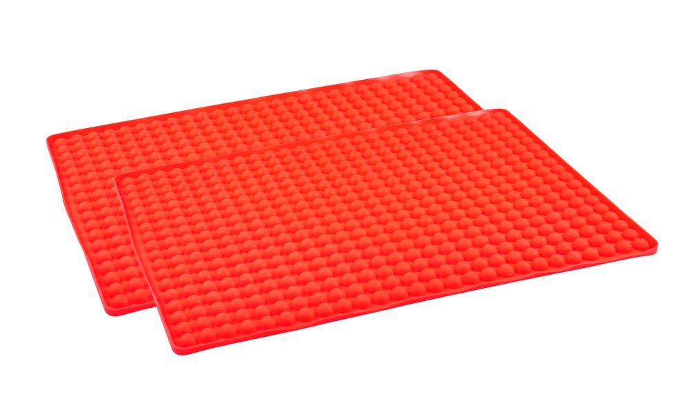 2x Silikon-Dauerbackmatte Backunterlage Backpapier Teigmatte Backmatte Backblech – Bild 1