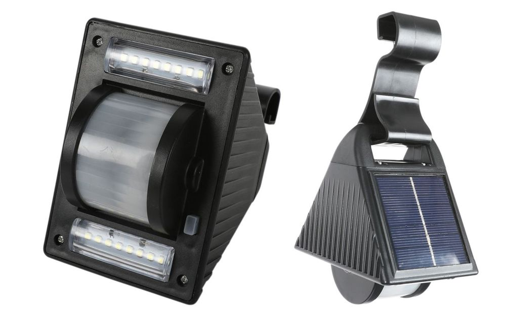 Solar LED Dachrinnenleuchte Gartenleuchte Solarlampe Zaunleuchte Aussenleuchte  – Bild 1