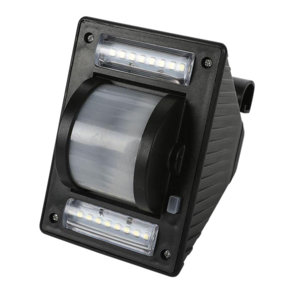 3er-Set Solar Dachrinnenleuchten Solarlampen Zaunleuchte Aussenlampe Gartenlicht – Bild 3