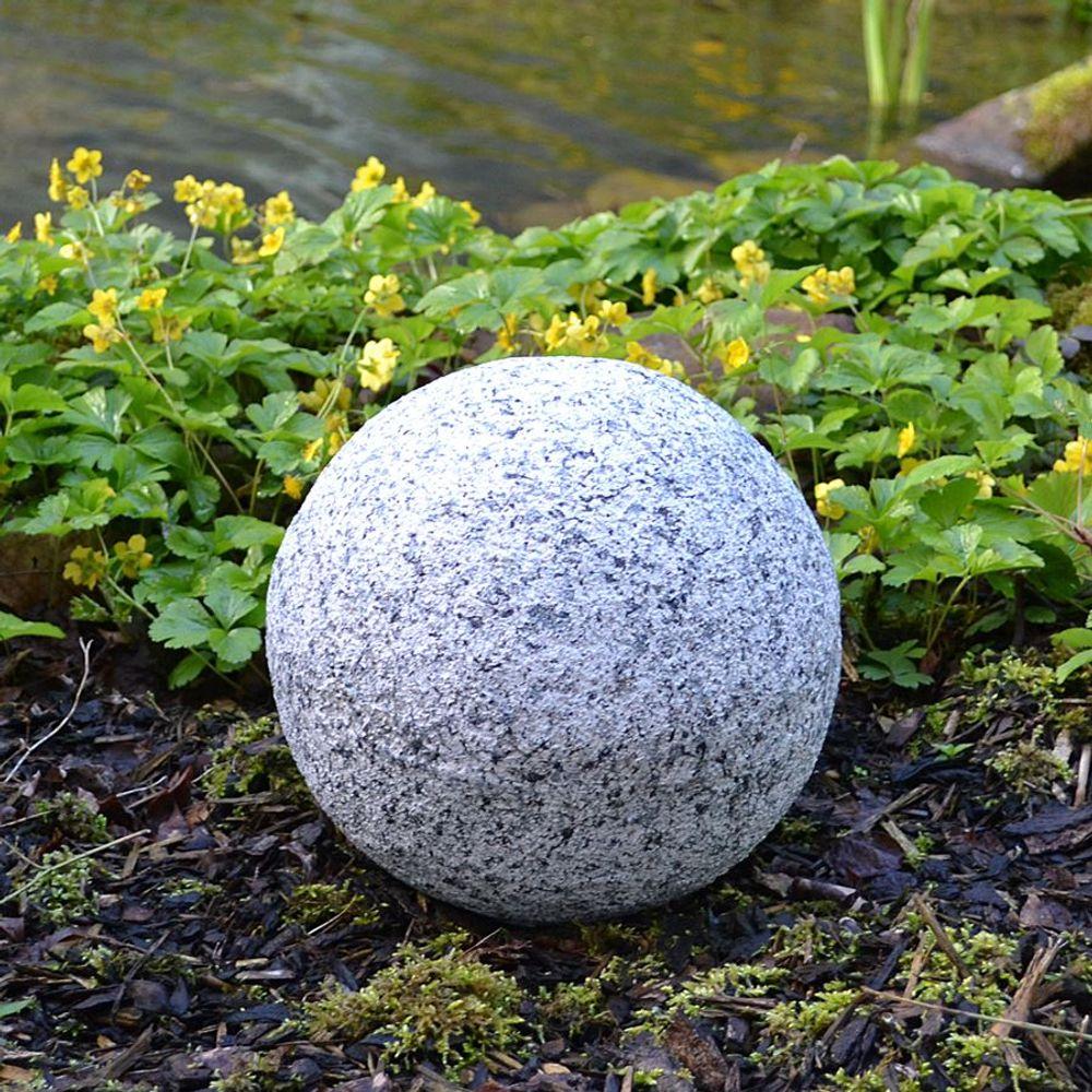 Dekokugel in Granitoptik 25cm Gartenkugel Gartendeko Granitkugel Deko Steinkugel – Bild 1