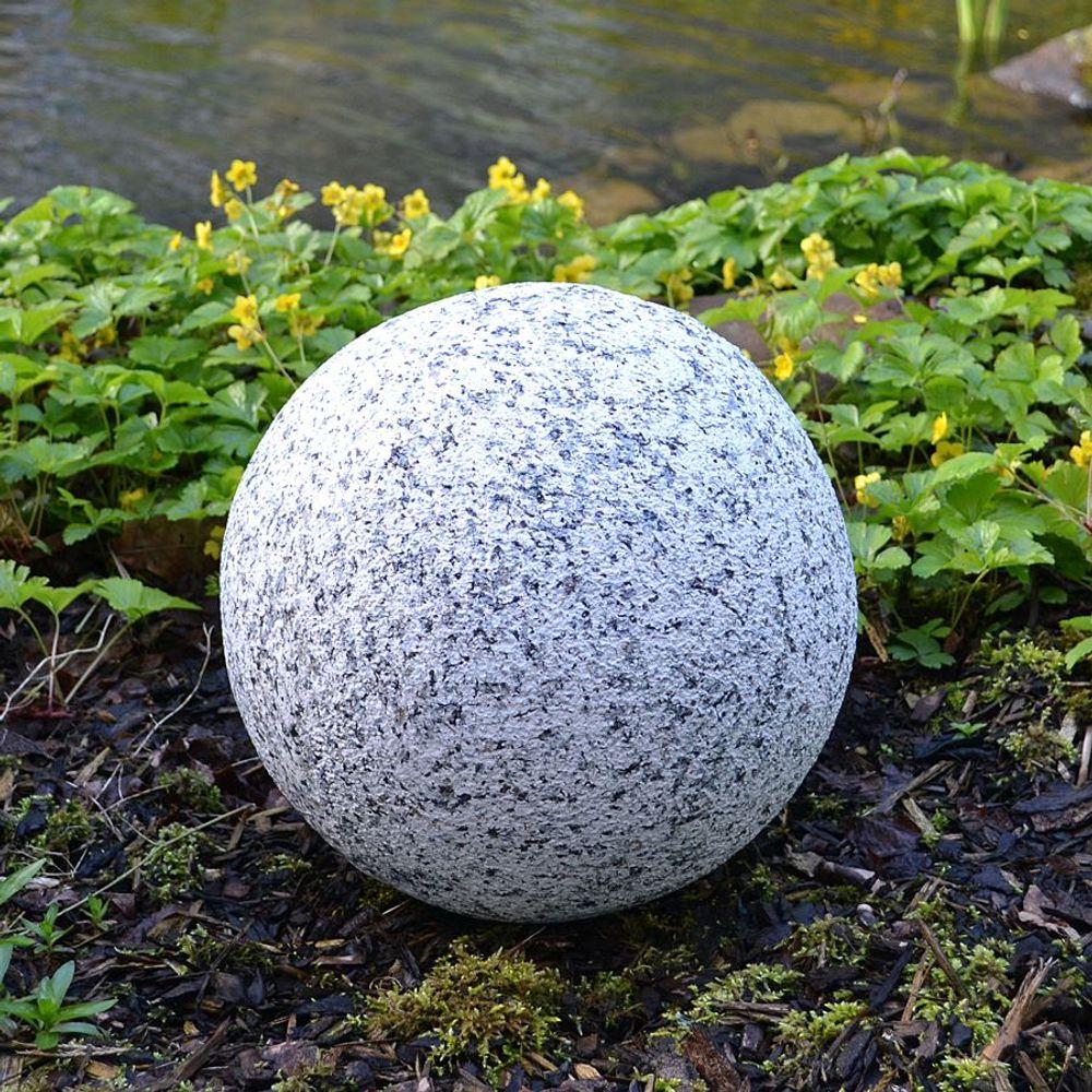 Dekokugel in Granitoptik 30cm Gartenkugel Granitkugel Steinkugel Gartendeko Deko – Bild 1