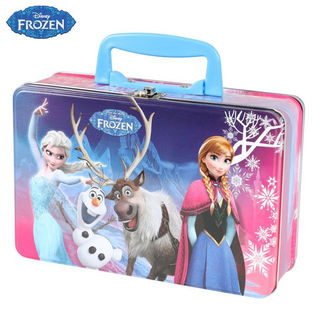 Lunchbox Eiskönigin Anna und Elsa Metalldose Frühstücksbox Brotdose Köfferchen  – Bild 1