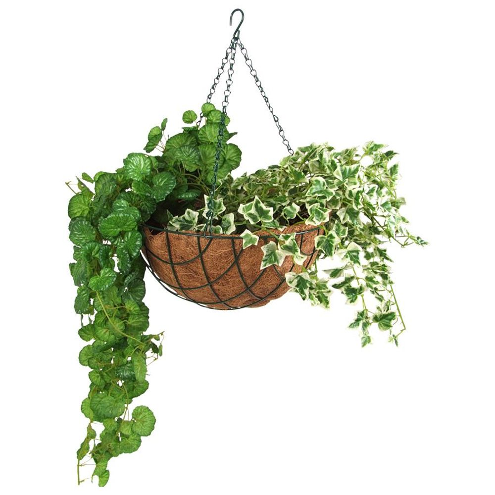 Blumenampel 30cm mit Kokosfaser Pflanzeinlage Hängeampel Hängeschale Pflanztopf  – Bild 2