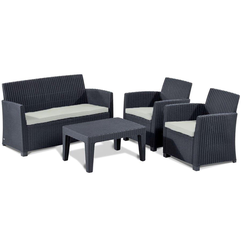 allibert lounge sitzgruppe merida graphit gartenm bel gartenset terrassenm bel garten m bel. Black Bedroom Furniture Sets. Home Design Ideas