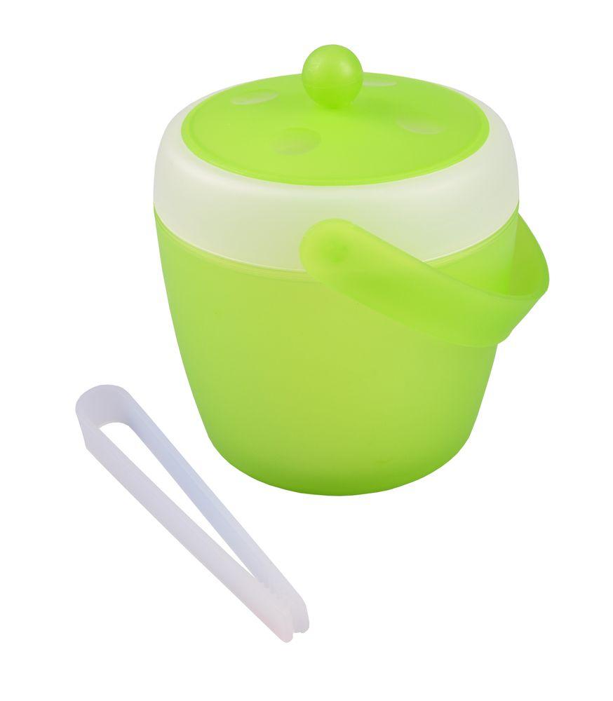Eiswürfeleimer 1,5L mit Eiszange Eiswürfelbehälter Eiseimer Eiskübel Eiskühler  – Bild 2