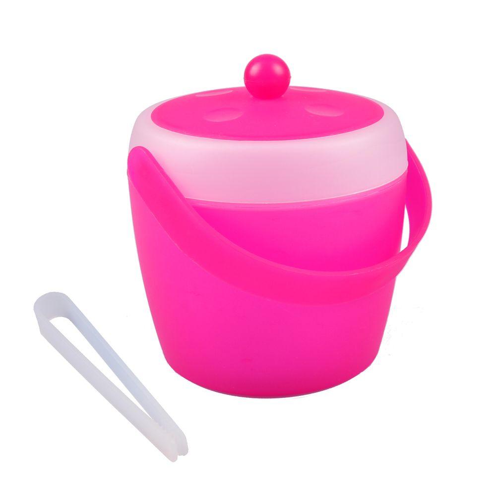 Eiswürfeleimer 1,5L mit Eiszange Eiswürfelbehälter Eiseimer Eiskübel Eiskühler  – Bild 5