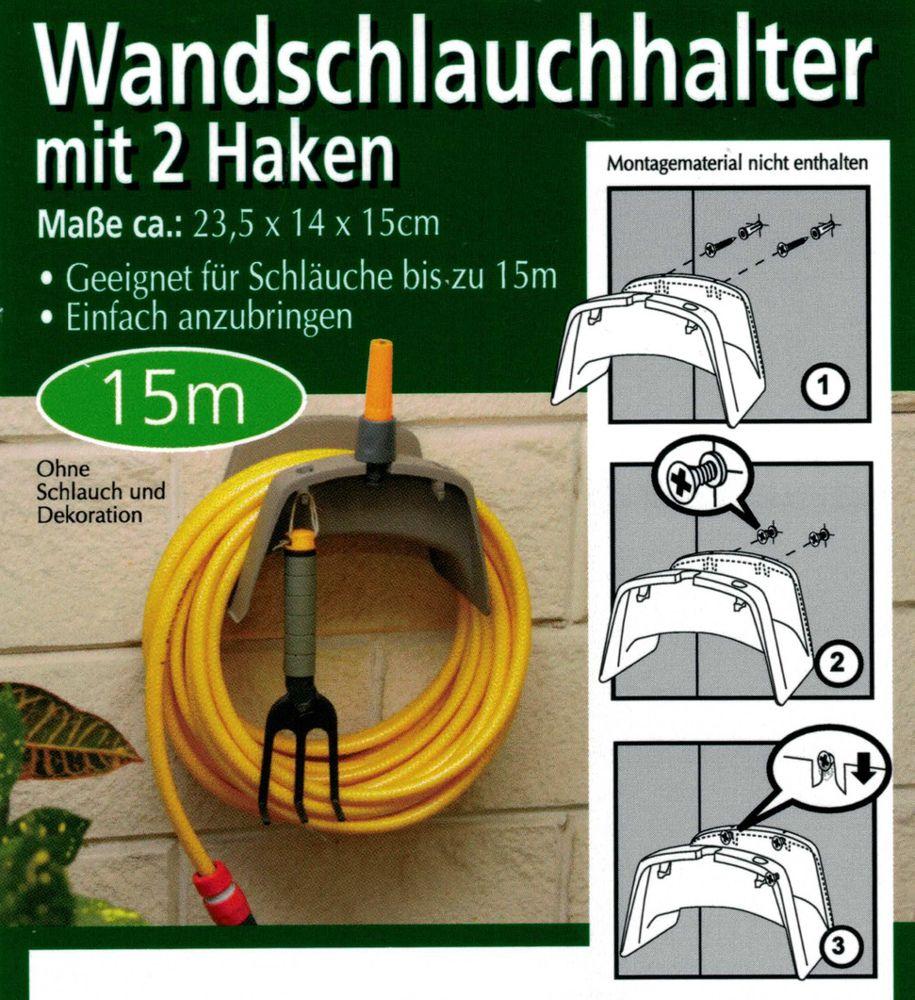 Wandschlauchhalter Gartenschlauch Wandhalterung Gartenschlauchhalter Kunststoff – Bild 2
