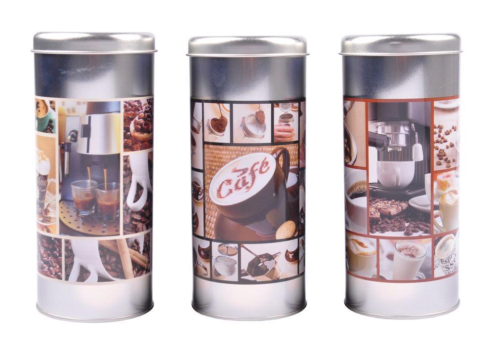 Kaffeepaddose Vorratsdose Kaffeepads Kaffeespender Paddose Kaffeebox Metalldose