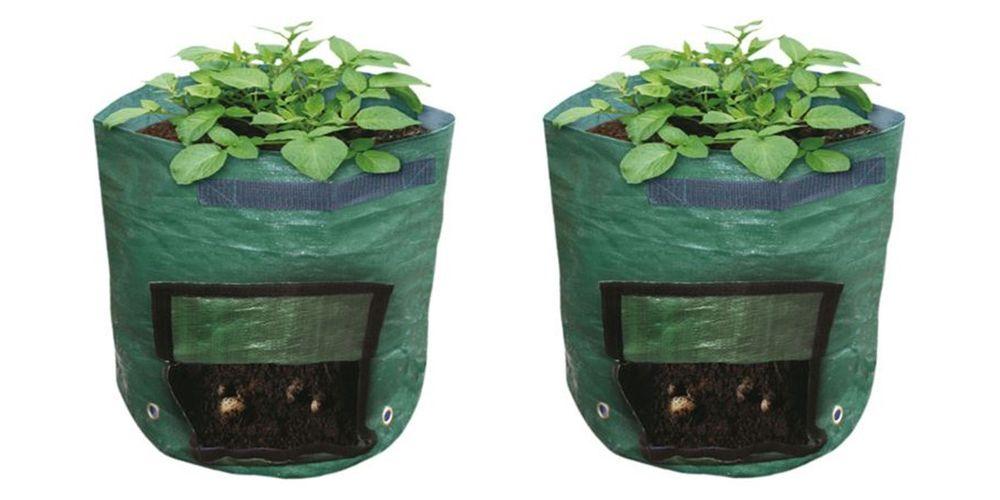 2x Kartoffel-Pflanzsäcke Pflanzbeutel Pflanztasche Balkonkasten Pflanzkasten