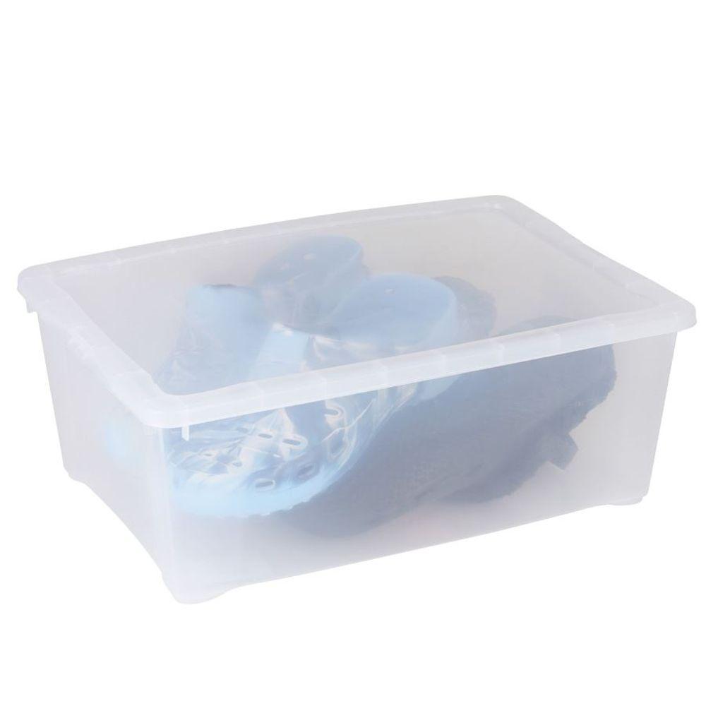Klarsichtbox Aufbewahrungsbox Allzweckbox Spielzeugkiste Stapelbox 38x26x14cm  – Bild 1