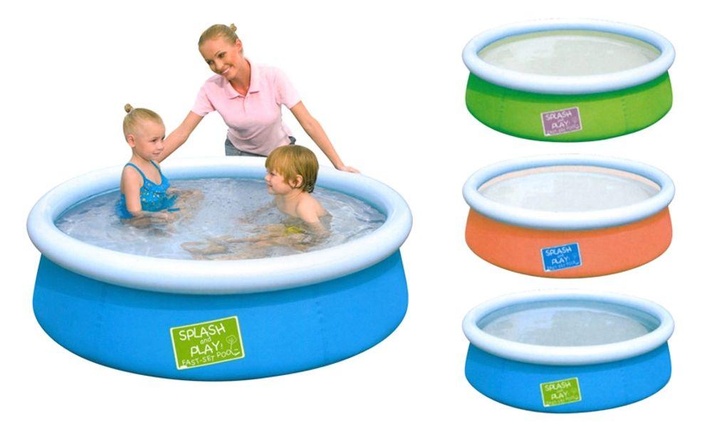 Kinder Pool 152cm Swimmingpool Schwimmbecken Planschbecken Fast-Set Gartenpool  – Bild 1