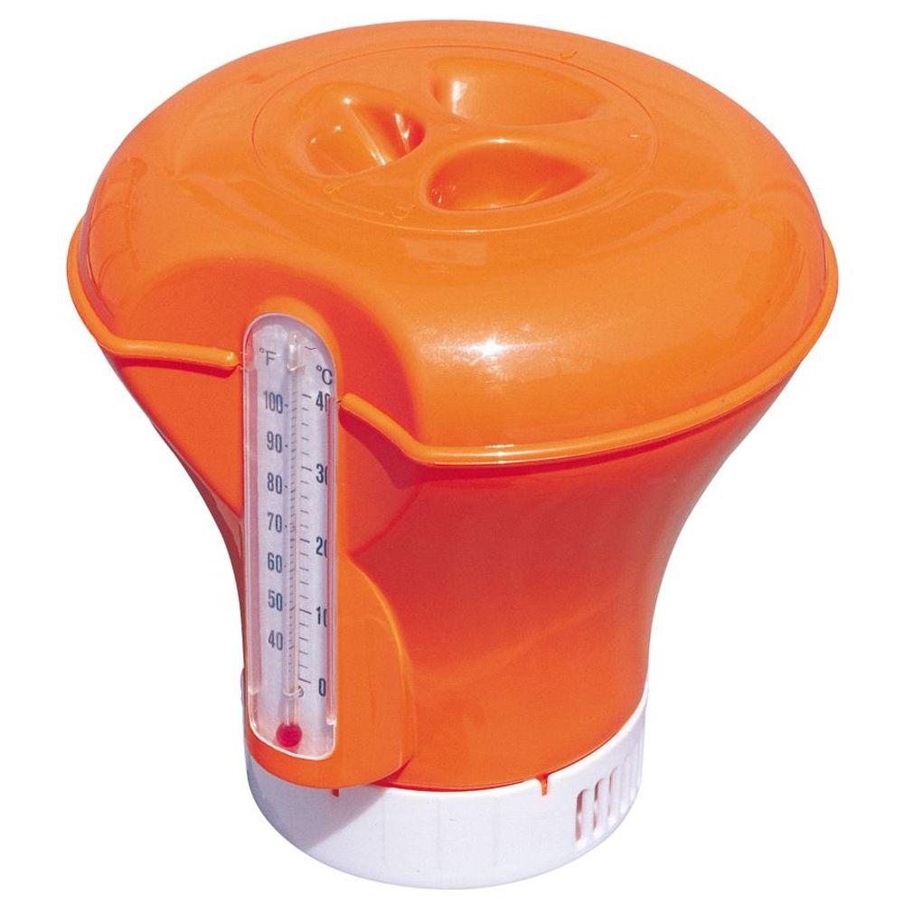Schwimmdosierer + Pool Thermometer Dosierschwimmer Chlorspender Dosierer Spender – Bild 4