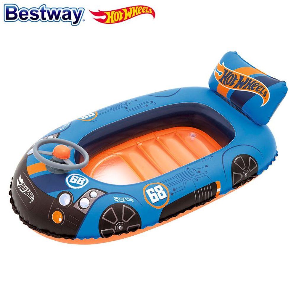Bestway Kinder-Schlauchboot Hot Wheels Kinderboot Wasserfahrzeug Gummiboot Auto – Bild 1