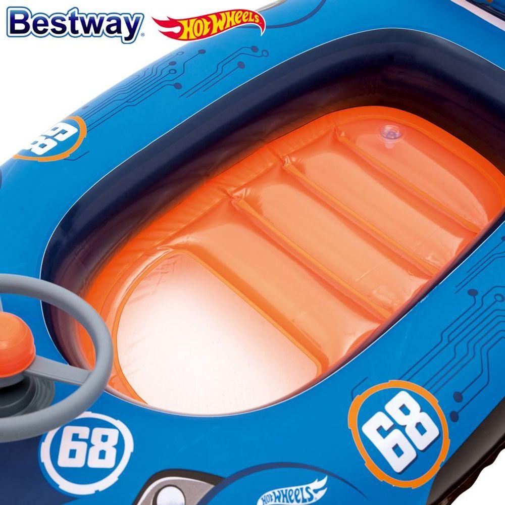 Bestway Kinder-Schlauchboot Hot Wheels Kinderboot Wasserfahrzeug Gummiboot Auto – Bild 5