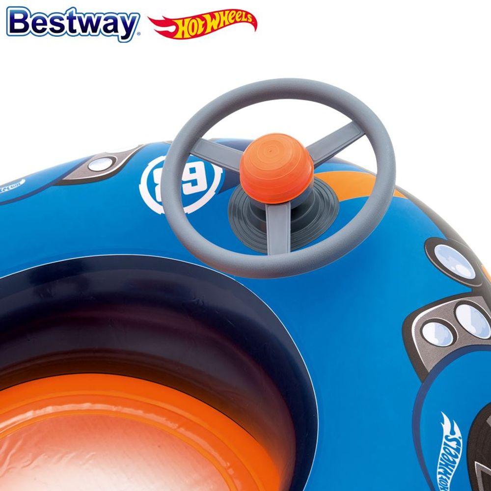 Bestway Kinder-Schlauchboot Hot Wheels Kinderboot Wasserfahrzeug Gummiboot Auto – Bild 3