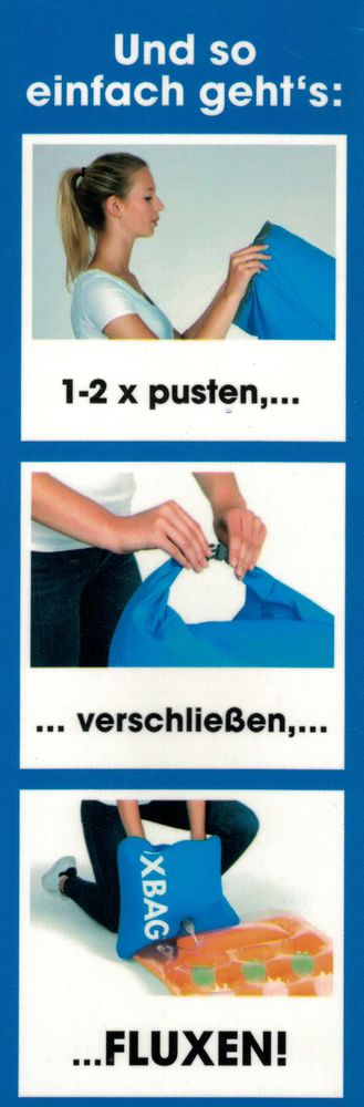 FLUXBAG Luftpumpe Luftmatratze Reisekissen Strandtasche Pumpe Strandutensilien – Bild 2