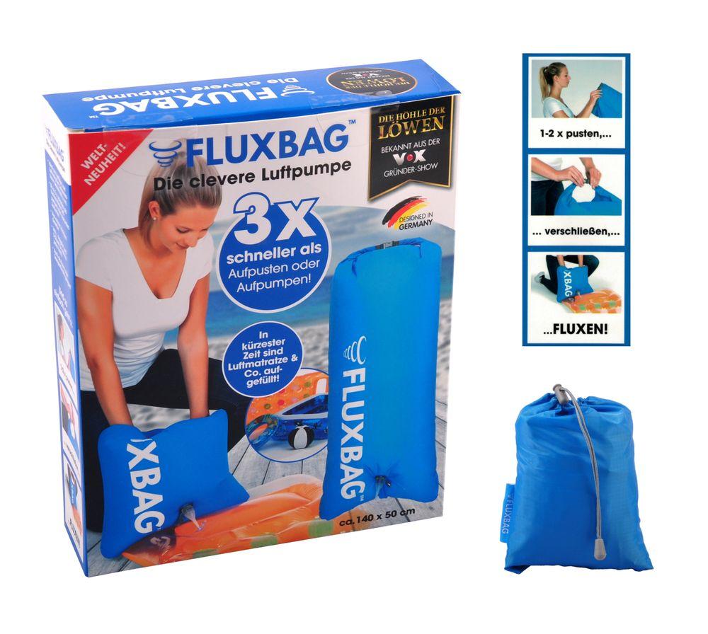 FLUXBAG Luftpumpe Luftmatratze Reisekissen Strandtasche Pumpe Strandutensilien – Bild 1