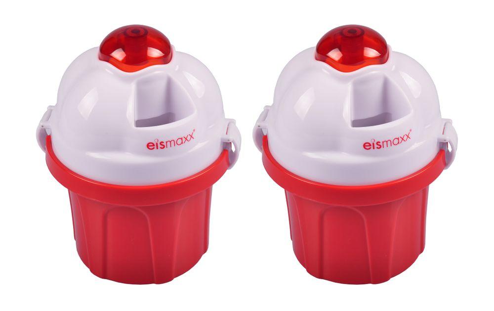 Eismaxx Eismaschine 2er-Set Eisbereiter Eiscreme Speiseeis Stieleis Pudding Eis – Bild 1