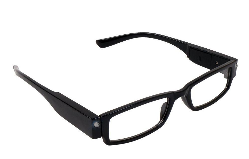 Lesebrille +3,5 dpt schwarz Lesehilfe Sehhilfe Lesebrillen LED Brille B-Ware  – Bild 1