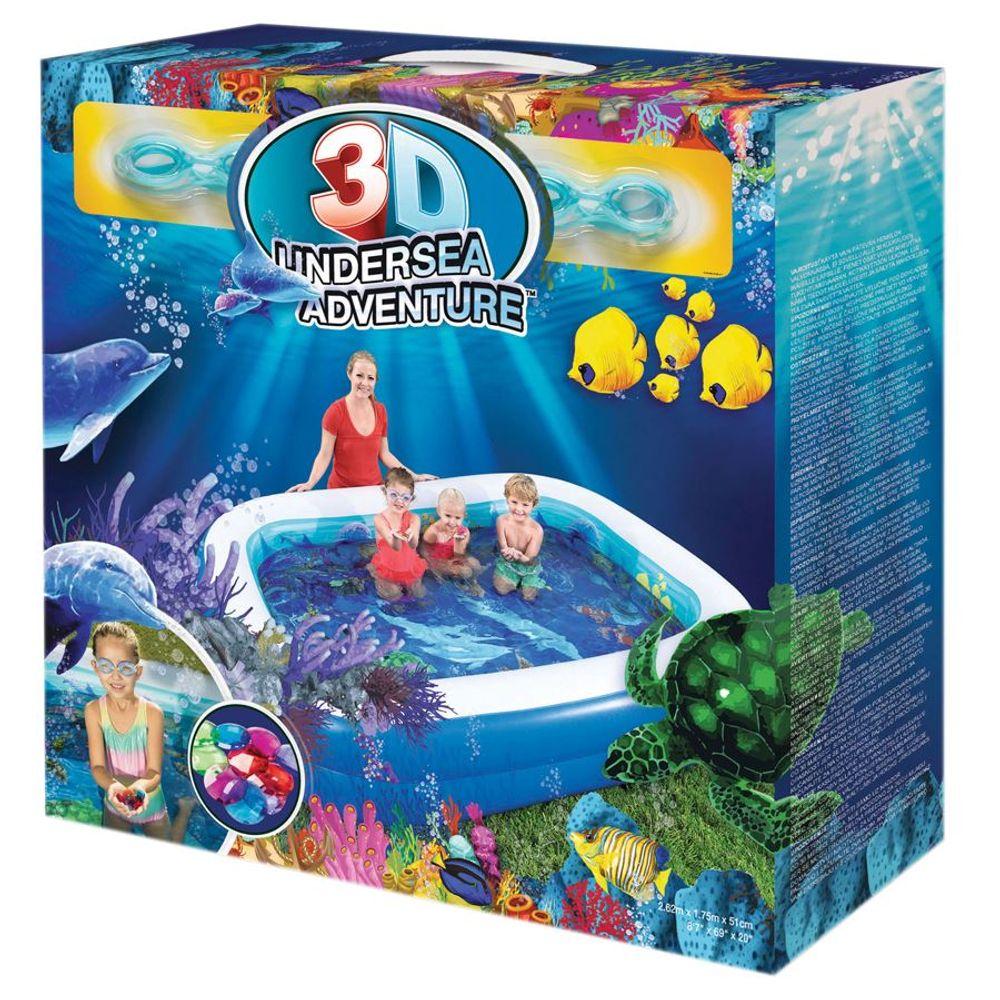 3D Planschbecken Undersea Swimmingpool Fisch Familypool Gartenpool Schwimmbecken – Bild 7